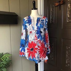 🆕 Vintage Vera Neumann Cotton Floral Tunic S NEW!
